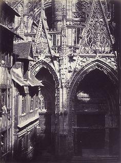 Saint-Maclou, Rouen, by Edmond Bacot, 1852-54, photograph, Metropolitan Museum of Art, NY