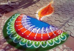 80 Best and Easy Rangoli Designs for Diwali Festival - 16 diwali rangoli design by aakruti Indian Rangoli Designs, Rangoli Designs Latest, Rangoli Designs Flower, Colorful Rangoli Designs, Rangoli Designs Images, Flower Rangoli, Beautiful Rangoli Designs, Latest Rangoli, Mehndi Images