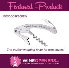 The perfect wedding favor for wine lovers! www.wineopeners.com