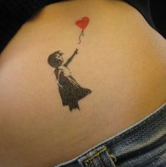 Banksy Temporary Tattoos- P.S Banksy is a wonderful artist Hip Tattoos Women, Fake Tattoos, Body Art Tattoos, Tatoos, Color Tattoos, Small Tattoos, Tattoo Girls, Girl Tattoos, Heart Tattoos