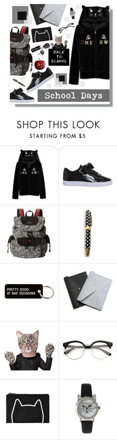 """""""School Days"""" by mmk2k ❤ liked on Polyvore featuring Puma, Sakroots, Kate Spade, Various Projects, Forever 21, Olivia Pratt, BackToSchool, Fall and school"""