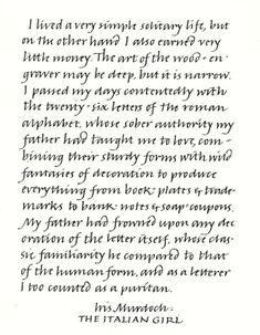 Example of Italic Handwriting