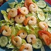 Sałatka na ciepło z krewetkami Tapas, Shrimp, Meat, Food, Eten, Meals, Diet