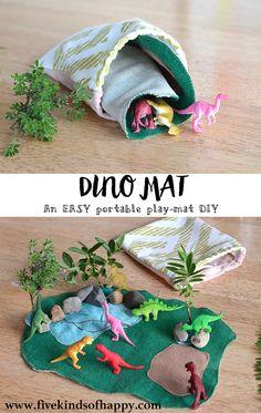 Easy DIY dinosaur play mat toy Easy DIY dinosaur play mat toy, Einfache DIY Dinosaurier Spielmatte S Fun Crafts For Kids, Toddler Crafts, Toddler Activities, Diy For Kids, Gifts For Kids, Felt Crafts Kids, Toddler Busy Bags, Toddler Toys, Dinosaur Play