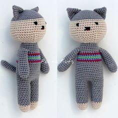 Polina Kuts: МК Котёнок вязанный крючком. Little crochet cat