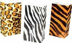 Wild zoo safari Animal print gift and goody bags - 36 pc by unknown. $9.99. 36 bags per order