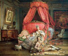 Romantic Scene by Ignacio de Leon y Escosura (Spanish 1834-1901)