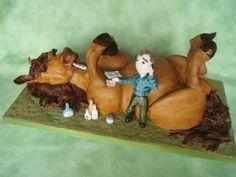 horse and vet cake