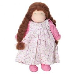 Classic Handmade Waldorf Dress-Up Doll from Bella Luna Toys