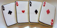 2 dozen Casino/ Poker Night Cookies Casino Theme Parties, Casino Party, Party Themes, Poker Cake, Poker Night, Casino Poker, 80th Birthday, Drawing Tips, Bingo