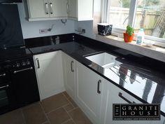 #BlackPearlGranite #GraniteWorktops #Granite #GraniteKitchen www.thegranitehouse.co.uk/granite-colours.html
