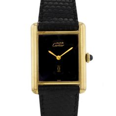 Cartier Tank Must en vermeil Vers 1990 Elegant Watches, Beautiful Watches, Cartier Panthere, Cartier Santos, Cartier Tank, Expensive Watches, Hand Watch, Luxury Watches For Men, Fashion Watches