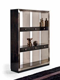 Emily showcase Cabinet Shelving, Console Cabinet, Bookcase Shelves, Cabinet Furniture, Metal Furniture, Pallet Furniture, Luxury Furniture, Furniture Design, Hollywood Furniture