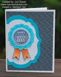 Blue Ribbon Birthday Card  Creative Chat Blog