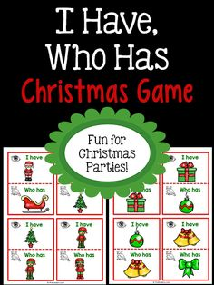 "This Christmas ""I Have, Who Has"" Game will keep kids busy in the classroom during the excitement of the holiday season. Great for holiday parties or transitions."