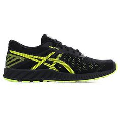huge discount c4c2d a2ea0 Asics FuzeX Lyte Mens Running Trainer Shoe Black  Yellow   Men s   Shoes