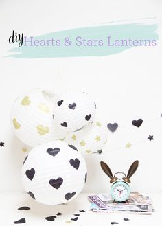 DIY stars and hearts lanterns!