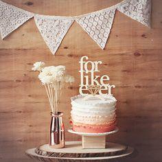 Voor zoals Ever Wedding Cake Topper of bruiloft door StrangelyYours
