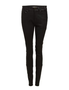 DAY - Night Densely Belt loops High-waisted Skinny fit Lambskin Black Leather Pants, Black Jeans, Skinny Fit, Trousers, Belt, Night, Day, Fitness, Shopping