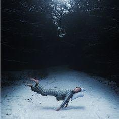 Surreal Self-Portraits Show a Man Eternally Sleeping - My Modern Metropolis