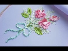 Handcrafting a satin stitch flower embroidery may well be a lost art in the near future. However, this is a skill that anyone can practice and learn and make beautiful embroidery handpieces for all occasions. Brazilian Embroidery Stitches, Simple Embroidery, Types Of Embroidery, Learn Embroidery, Rose Embroidery, Embroidery For Beginners, Embroidery Techniques, Embroidery Patterns, Embroidery Thread