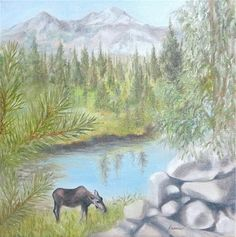 """Cow Moose"" by Carol Keene"
