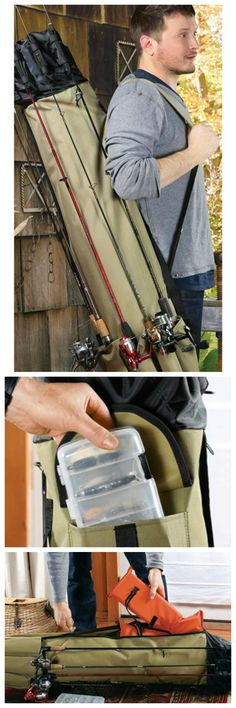 Fishing Rod Carrying Case! Bit much but would be handy for a group maybe.