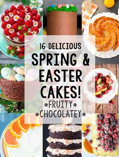 16 Delicious Spring and Easter Cake Ideas - https://theunlikelybaker.com/spring-easter-cake-ideas/