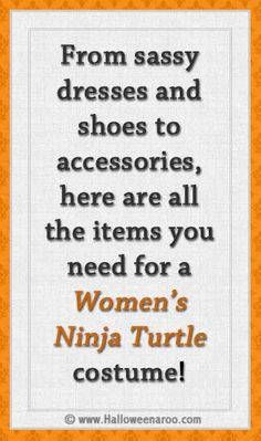 Everything you need for a Womens Ninja Turtle costume