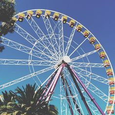 hey queens this seems like ages ago I'm not sure if I like the filter that much anymore but I'll keep doing it for a while :)) schools so close now bye queens// qotp: do you like going on roller coasters? {yeah I guess} #ferriswheel #easternbeach #geelong #australia #blueskies #blue #pink #yellow #coulors #rollercoaster #themepark #fun #tumblr #tropical #beach #saltwater #love by 0mgqueen http://ift.tt/1JtS0vo