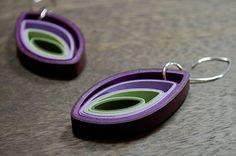 Project 2 Paper: Modern Paper Earrings / Lightweight Earrings / Paper Jewelry / Eco Friendly Jewelry / Sterling Silver Earwire - Bud