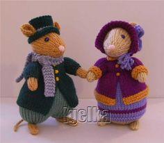 Animal Knitting Patterns, Christmas Knitting Patterns, Crochet Patterns, Crochet Hooks, Knit Crochet, Crochet Mouse, Knitted Bags, Knitted Dolls, Knitting For Beginners