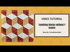 This tutorial is for making tumbling blocks using strips sewn together – no Y seams. This technique has been attributed to Rebecca McCreary but also to Marci Baker. The technique is very easy…