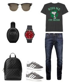 """""""Snoopy😍"""" by valelondon on Polyvore featuring JEM, Jack & Jones, Gucci, adidas, Ted Baker, Tom Ford, Calvin Klein, men's fashion e menswear"""