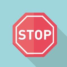 フラットデザインのアイコン 交通標識のSTOPのアイコン素材 Flat Design Icons, Icon Design, Logos, Logo