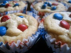 The Cupcake Criminal: Fourth of July M&M Cookie Cups