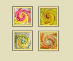 SEPIA GOLD SWIRLS QUALITY CANVAS PRINT WALL ART READY TO HANG