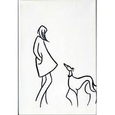 Girls Best Friend I by Dianne Heap @ Mini Gallery - Acrylic Painting - M6581