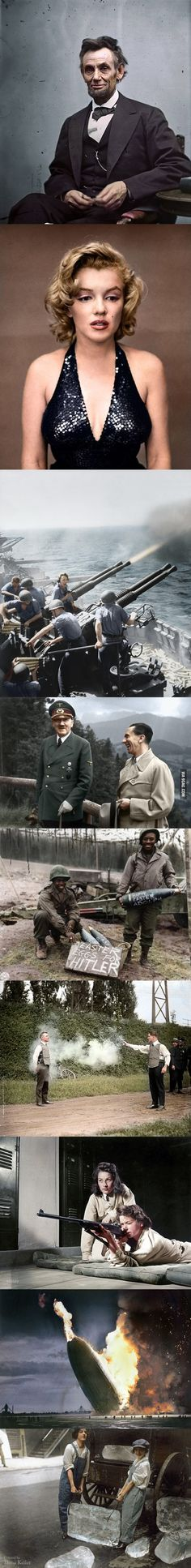 History in Color. Some repeats but I still love the concept. Makes it so much closer to living memory