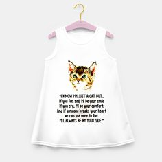 Cats Quotes Love My Cat Girl's summer dress, Live Heroes Feeling Sad, How Are You Feeling, Cat Quotes, Cat Design, Summer Dresses, Tank Tops, Cats, Womens Fashion, How To Wear