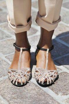 Stud Embellished Sandals ♡