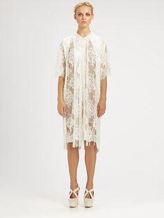 Stella McCartney Fringe-Trimmed Lace Dress
