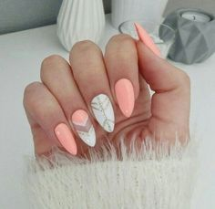 Stunning Designs for Almond Nails You Won't Resist; almond nails long or s… Stunning Designs for Almond Nails You Won't Resist; almond nails long or s… Long Almond Nails, Almond Acrylic Nails, Acrylic Nails For Summer Almond, Acrylic Nails For Fall, Fall Almond Nails, Acrylic Nail Designs, Nail Art Designs, Pretty Nails, Fun Nails