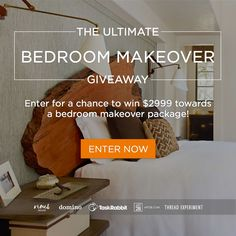 Reimagine your bedroom today with this $2999 makeover via @NousDecor, @DominoMag, @TaskRabbit, @Apt2B, @ThreadEx