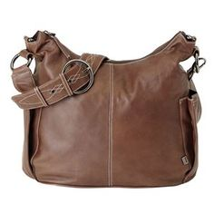Picture of Lamb Leather Hobo Diaper Bag - Chocolate