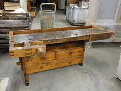 Vintage Woodworker Vise Bench