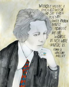 Edna St. Vincent Millay, reconstructionist.