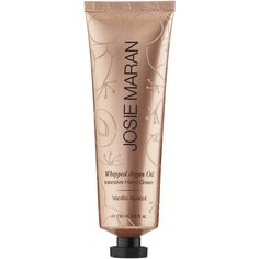 Josie Maran Whipped Argan Oil Intensive Hand Cream (125 BRL) ❤ liked on Polyvore featuring beauty products, bath & body products, body moisturizers, beauty, fillers, hand cream, bath, makeup, body moisturizer and josie maran