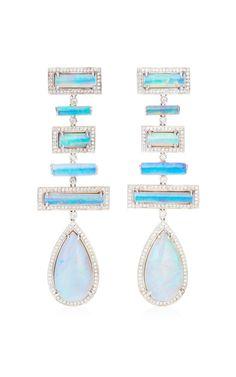 One Of A Kind Opal Earrings by Dana Rebecca Designs for Preorder on Moda Operandi