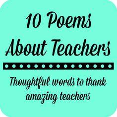 Teacher Appreciation Gift: A Framed Poem